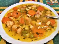 🧡Mennyei csirkés raguleves - Jucus módra🧡 Cheeseburger Chowder, Thai Red Curry, Soup, Ethnic Recipes, Soups