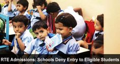 RTE Admissions: Schools Deny Entry to Eligible Students