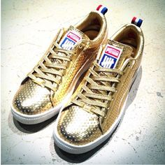 Undefeated x #PUMA Clyde Gold - limited to 100 pairs #sneakers #fashion