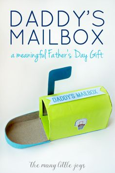 This simple homemade Father's Day gift is a meaningful way for little ones to show Dad their love...and to continue the celebration all year long.