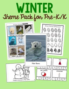 Looking for winter theme ideas for preschool and kindergarten? Check out this 300+ page pack of high quality learning resources!  You'll find ideas for a penguin theme, an arctic animals preschool theme, and so much more!