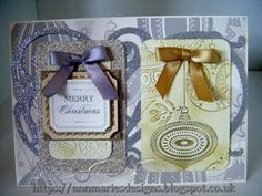 263.Christmas Card Project: Anna Griffin Christmas Silver & Gold Embossed Card - YouTube