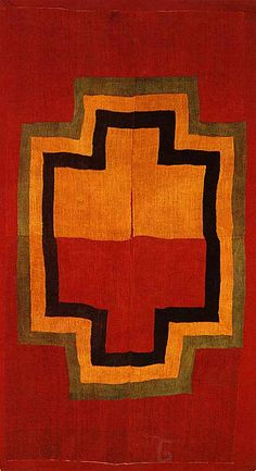 This pre-Columbian cushma from the Nazca Valley on the south coast of Peru incorporates complex 'scaffold wefting' technique. Camelid fibre, woven in brilliant saturated colours in gauze open weave. c. 300 BC - 600 AD.  Private family collection.
