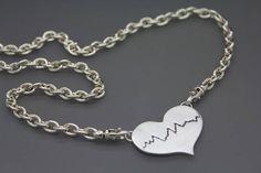 Actual Heartbeat Necklace Personal Heartbeat Custom EKG