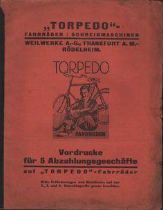 FRANKFURT-RÖDELHEIM, Vordrucke für Abzahlungs-Geschäfte 1928, TORPEDO-Weilwerke | eBay