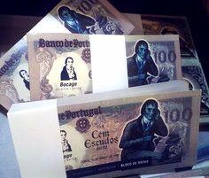 Original Lisboa em Lisboa, Lisboa - Notebooks with old portuguese currency bill cover! Genius!
