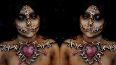Voodoo Doll Halloween Makeup Tutorial | Jordan Hanz / Alex Faction
