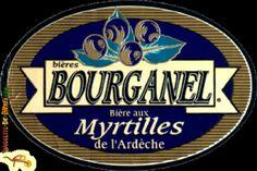 Cerveja Biére aux Myrtilles de l'Ardeche, estilo Specialty Beer, produzida por Brasserie Bourganel, França. 5% ABV de álcool.