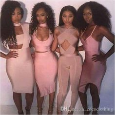 2016 Hot Apricot Pink Bandage Dresses Bandage Jumpsuit 2016 From Cococlothing, $81.67 | Dhgate.Com