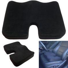 Large Ortho Cushion Car Seat Pillow Pad Orthopedic Memory Foam Back Pain Relief #Keiba