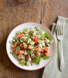 Farro Salad with Grapes and Chickpeas