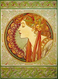 Laurel by Alphonse Mucha 1901