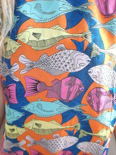 VINTAGE Fish Print