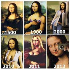 Evolution of Mona Lisa