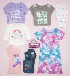 Dress magically with unicorns and rainbows! | Girls' fashion | The Children's Place