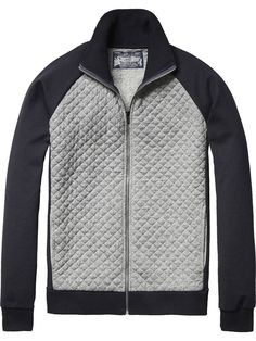 Quilted Track Jacket | Jackets & Coats | Men's Clothing at Scotch & Soda: