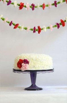 carnation cake decor