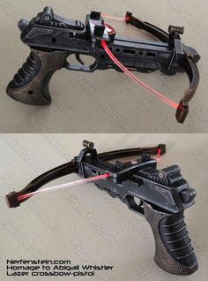 Non Nerf Crossbow mod homage to Abigail Whistler Laser bow