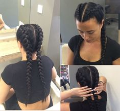 Boxer Zöpfe - - # how to boxer Braids Two Braid Hairstyles, Sporty Hairstyles, Trending Hairstyles, Under Braids, Two Braids, Dutch Braids, French Braids, Curly Hair Styles, Natural Hair Styles