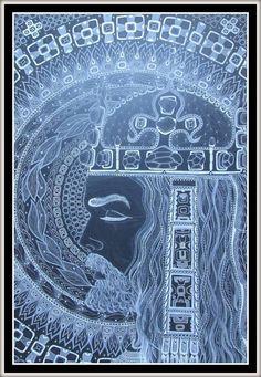 Karel IV, 11.Král český Perokresba,formát A1, černý karton, bílá tuš, KOH-I-NOOR,bílý pastel, FABER-CASTELL, barva stříbrná Autor:Johana Hájková
