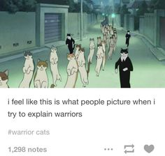 Ayyy this movie is called The Cat Returns! Warrior Cats is too. Warrior Cats Funny, Warrior Cats Comics, Warrior Cat Memes, Warrior Cats Series, Warrior Cats Books, Warrior Cat Drawings, Warrior Cats Fan Art, Cat Comics, Warrior Cats Movie