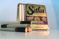 Creative Brilliance Award for September Sitka Gold Medical Marijuana, Cannabis, Cigarette Aesthetic, Brand Packaging, Box Design, Packaging Design Inspiration, Weed, Biodegradable Products, Herbs