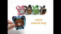 DIY Miniature Doll Mini Back to School Bag