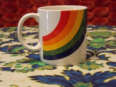 Super Retro Vintage Coffee Cup with a by EnchantingArtistry, $6.95