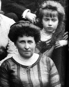 Anastasia Nikolaevna with her aunt, Princess Henry of Prussia (Irene of Hesse)…                                                                                                                                                                                 More