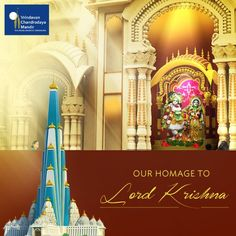 Building the world's tallest temple for Lord Krishna is our way of offering homage to Him. Help us building this -
