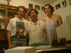 Mario Maya en la escuela en 2003 con Nacho y Carmen