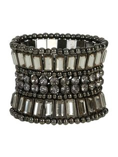 Stone Embellished Stretch Bracelet from ArdenB.com