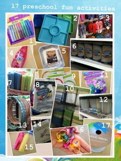 17 Preschool Projects with items from the Dollar Store
