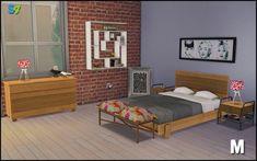 Boston bedroom set at Mango Sims via Sims 4 Updates