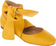 CHLOE Ankle Wrap Ballet Flat - Lyst