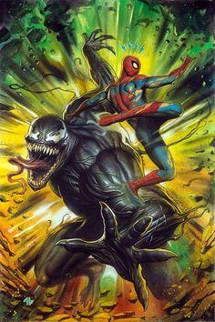 #Venom #Fan #Art. (Venom #150 (2017) Forbidden Planet Exclusive Variant Cover) By: Adi Granov. ÅWESOMENESS!!!™ ÅÅÅ+
