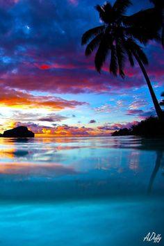Sunset, Tahiti:                                                       …