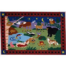 39 x 58 inch Camp Fire Friends Fun Rug