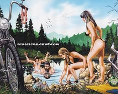 "David Mann moto Biker Easyriders Centerfold Art Poster impression Skinny trempage vélo Chopper Sturgis Daytona 8.5 ""x 13"""