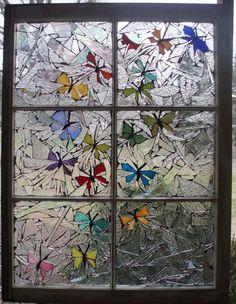 butterfly mosaic art | Butterfly Swirl Glass Art at fine art america | mosaics