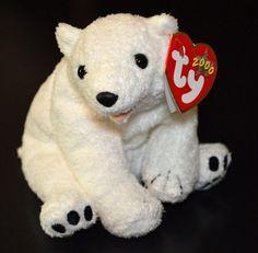 TY Beanie Babies 2000 #Aurora the #PolarBear Original Mint w/ Tags Retired  #Ty