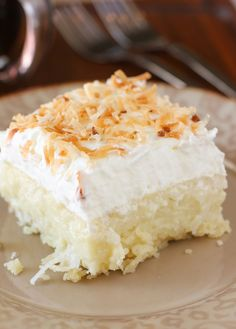 Coconut Cream Pie Bars.  creamy coconut, a cloud of whipped cream, and a buttery shortbread crust.