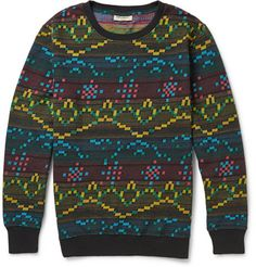 So sick! Levi's Made & Crafted Patterned Sweatshirt