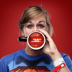 Perfect Dentist gift infected zombie mug lips