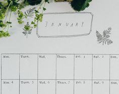 2017 Monthly Wall Calendar - Digital