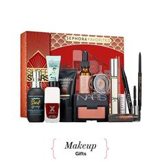 Pretty Makeup Presents for Every Girl on Your Holiday Shopping List,Gift Sephora's Superstars kit to the woman who swears by Nars Orgasm, used Bumble and Bumble Surf Spray before it was a thing, and won't leave the house without a spritz of Chloé (the original). She'll find them all, along with nine other faves, in this 12-piece set.Sephora Favorites Superstars, $75, sephora.com