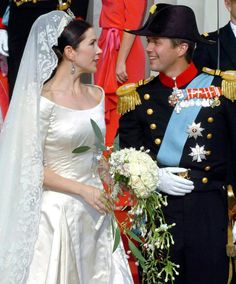 The Royal Order of Sartorial Splendor: Wedding Wednesday: Crown Princess Mary's Gown#