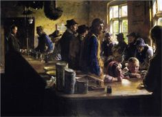 In the Store During a Pause from Fishing - Peder Severin Kroyer Light