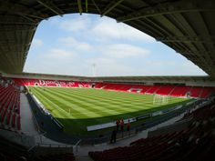 The Keepmoat, home to Doncaster Rovers and Doncaster RLFC. Now protected thanks to the Vikings Cooperative (football supporters' trust). Soccer Stadium, Football Stadiums, Football Soccer, Premier League, Doncaster Rovers, Hull City, Soccer Skills, Thing 1, All Over The World