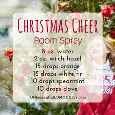 The 25 BEST Christmas Holiday room spray recipes made with essential oils. Holiday Treats, Candy Cane Forest, Peace on Earth, Christmas Cheer, and more christmas holiday ideas Essential Oils Christmas, Essential Oils Room Spray, Yl Essential Oils, Essential Oil Diffuser Blends, Young Living Essential Oils, Yl Oils, Doterra Oils, Deck The Halls, Diy Videos